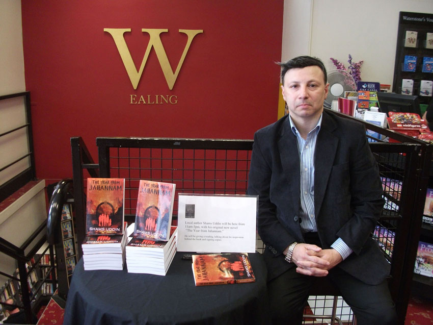 Shams Uddin at the Book Launch @Waterstones Ealing